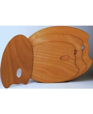 Paletė medinė Mabef 30x40 cm, ovali, medinė impregnuota