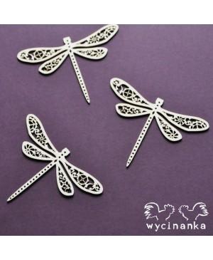 Kartono formelė Steampunk Dragonflies, 3vnt.
