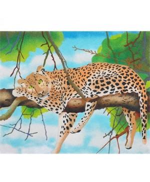 Eskizas smėlio tapybai Leopardas 50x61cm