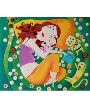 Eskizas smėlio tapybai Mama 50x61cm