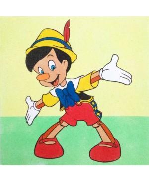 Eskizas smėlio tapybai Pinokis 30x30cm