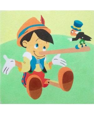 Eskizas smėlio tapybai Pinokis ir svirplys 30x30cm