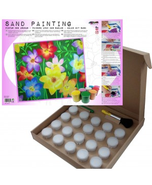 Rinkinys smėlio tapybai Gėlės, 38x46 cm