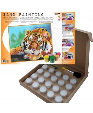Rinkinys smėlio tapybai Tigras, 38x46 cm
