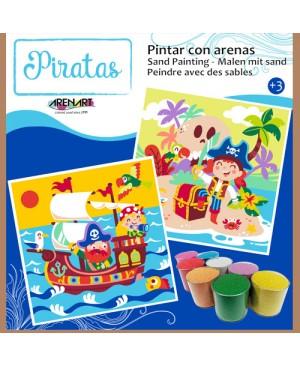 Rinkinys smėlio tapybai - Piratai, 30x30 cm
