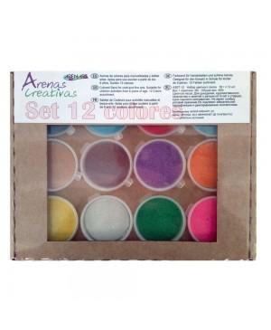 Spalvoto smėlio rinkinys Arenart, 12 spalvų dėžutėje