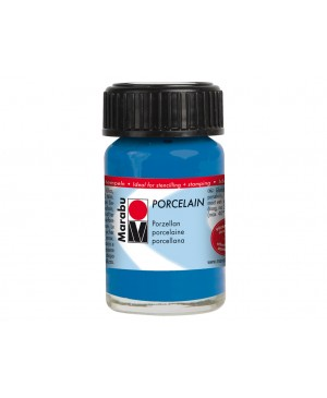 Porceliano dažai Marabu, 15ml, 057 gentian blue