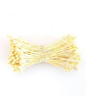 Kuokeliai gėlių gamybai, diametras 2-2,5mm, 144vnt, geltona