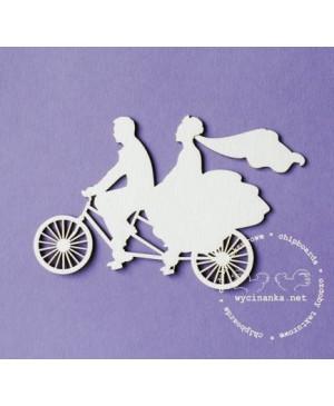 Kartono formelė Wedding Day - Pora ant dviračio