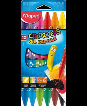 Aliejinės pastelės Maped Color Peps 12 spalvų