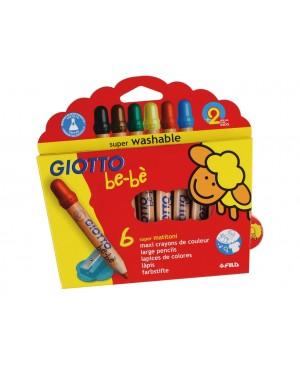 Spalvoti pieštukai Giotto be-be 6vnt ir drožtukas
