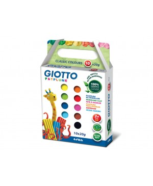 Plastilinas Giotto Patplume 10 spalvų, 200 g.
