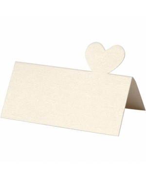 Stalo kortelė, 8.5x8 cm, dramblio kaulo blizgios sp., 120 g, 1vnt.,