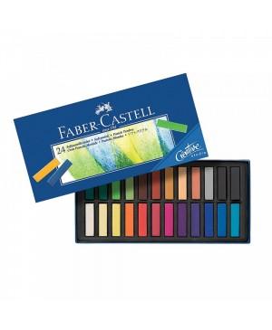 Pastelė Faber-Castell 24 spalvų, mažosios kreidelės