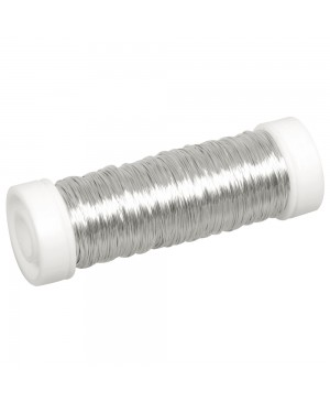 Vielutė nėrimui, 0,3mm, 50m, sidabro sp.