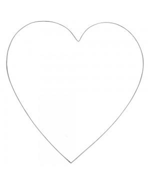 Širdis 2mm vielos, 35cm, 1vnt.