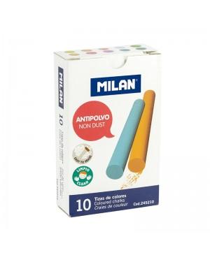 Spalvota apvali kreida Milan Non Dust 10 vnt
