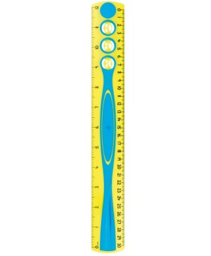 Liniuotė Maped Kidy'Grip 30 cm, su laikikliu, dvipusė, kabinamoje pakuotėje