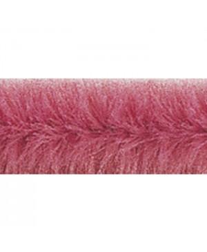 Šenilo vielos strypeliai 9mm storio, ilgis 50cm, 10vnt., sendinta rožinė