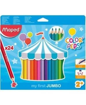 Spalvoti pieštukai Maped Color'Peps My First Jumbo 24 vnt