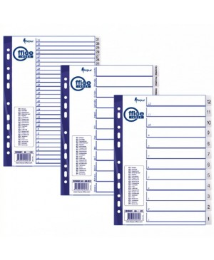 Skiriamieji lapai Forpus 31-1, A4, plastikiniai