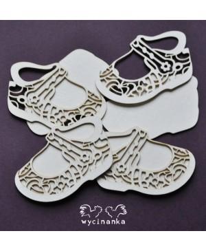 Kartono formelė Baby Shoes Ornamented, 4vnt.
