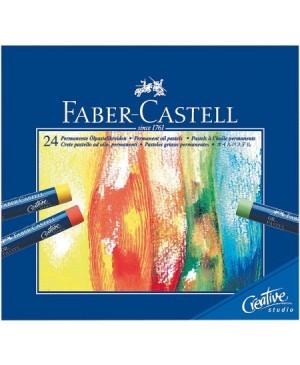 Pastelė aliejinė Faber-Castell, 24 spalvų