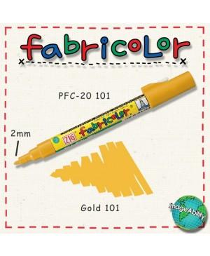 Rašiklis tekstilei Fabricolor, auksinis