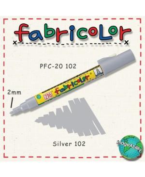 Rašiklis tekstilei Fabricolor, sidabrinis