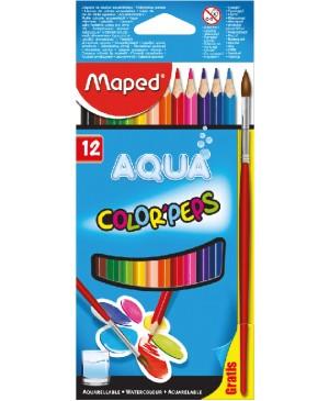 Spalvoti akvareliniai pieštukai Maped Color Peps AQUA 12 spalvų