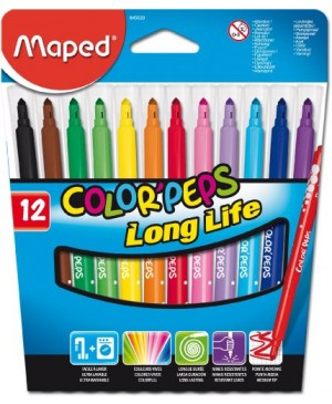Flomasteriai Maped Color Peps Long Life 12 spalvų