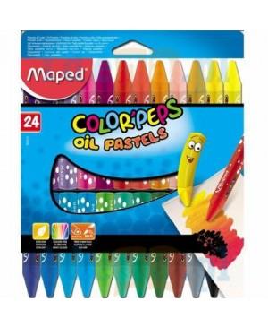 Aliejinės pastelės Maped Color Peps 24 spalvų
