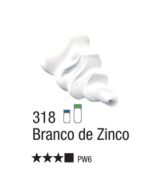 Aliejiniai dažai Acrilex 20ml Zinc White 318