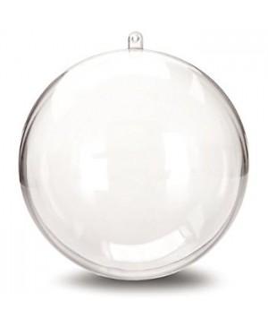 Skaidraus plastiko burbulas iš 2 dalių, diametras 10 cm