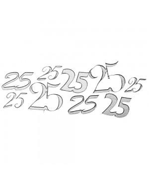 """Lipdukai kontūriniai """"25"""", 10x24,5cm, sidabro sp."""