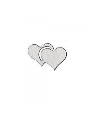 Lipdukai kontūriniai Širdutės, 10x24.5cm, sidabro sp.