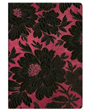 Užrašų knygutė Paperblanks Chick&Satin Black  Dahlia Midi 12,5x17 cm., 176 lapų linijomis