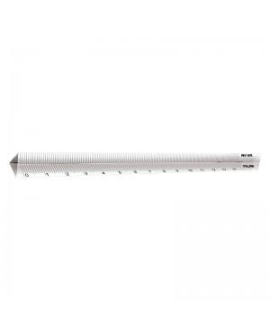 Liniuotė Milan trikampio skaidraus korpuso, 15cm