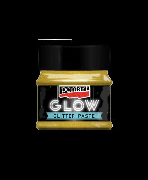 Pasta blizgi švytinti tamsoje Pentart, 50ml, gold