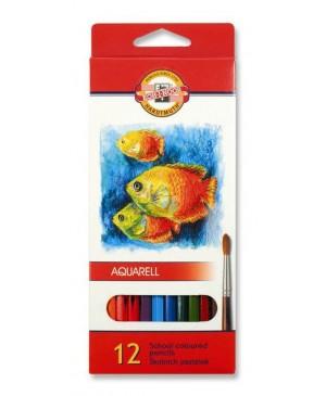 Akvareliniai pieštukai Koh-I-Noor 12 spalvų