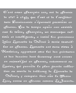 Trafaretas Schrift, 30.5x30.5cm