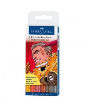Teptukiniai rašikliai Faber-Castell PITT Manga Shonen, 6 vnt., B