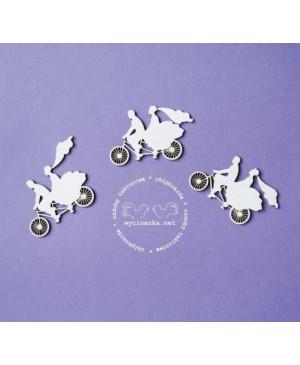 Kartono formelė Wedding Day - Pora ant dviračio, 3vnt.