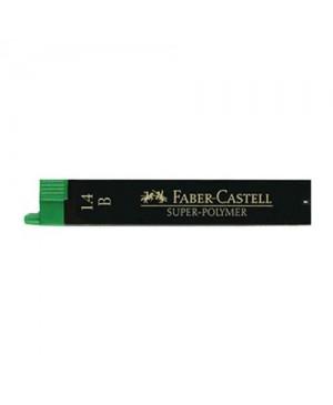 Grafito šerdelės Faber Castell automatiniam pieštukui, B, diam. 1.4 mm, ilgis 60mm, 12 vnt. dėžutėje