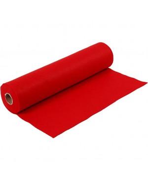 Sintetinis veltinis - filcas 1,5 mm storio, 45 cm pločio, 1 m, raudonos sp.