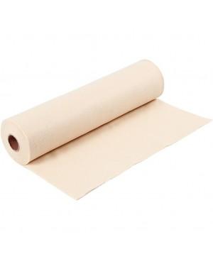Sintetinis veltinis - filcas 1,5 mm storio, 45 cm pločio, 1 m, kreminės sp.
