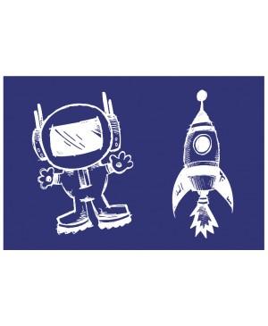 Šilkografinis trafaretas Astronautas ir raketa, A5