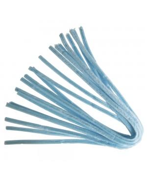 Šenilo vielos strypeliai 9mm storio, ilgis 50cm, 10vnt., šviesiai mėlyni