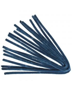 Šenilo vielos strypeliai 9mm storio, ilgis 50cm, 10vnt., mėlyni