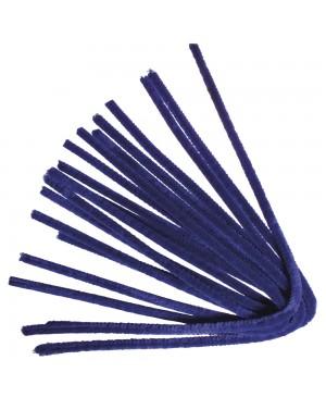Šenilo vielos strypeliai 9mm storio, ilgis 50cm, 10vnt., ultramarino mėlyni